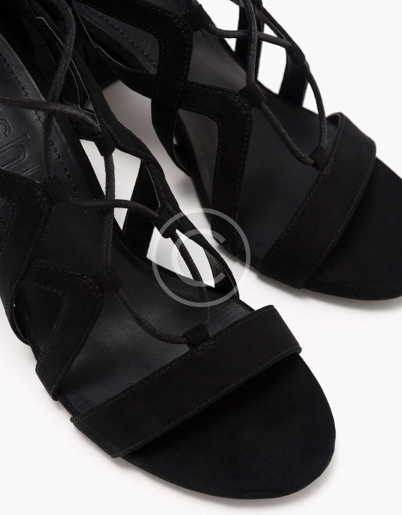 Block High Heel Sandals With Straps and Laces – Magazzini Firme Outlet